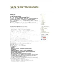 ERKLÄRUNG KULTURELLER REVOLUTIONÄRE | Cultural Revolutionaries