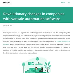 Revolutionary changes in companies with vansale automation software