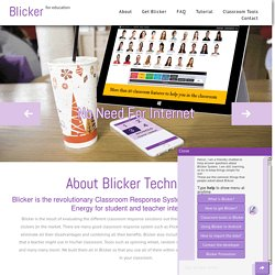 Blicker is the revolutionary Classroom Response System that uses Bluetooth Low Energy