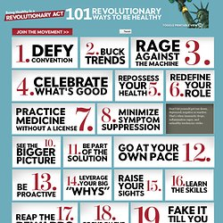 101 Revolutionary Ways to Be Healthy | RevolutionaryAct.com