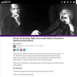 These 25 quotes take you inside Albert Einstein's revolutionary mind - ScienceAlert