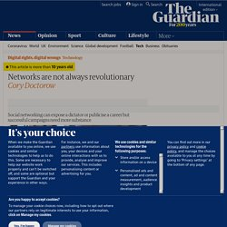 Networks are not always revolutionary | Technology