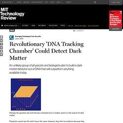 Revolutionary 'DNA Tracking Chamber' Could Detect Dark Matter