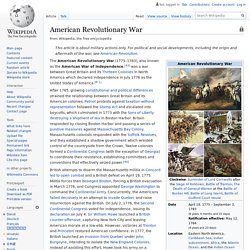 American Revolutionary War - Wikipedia