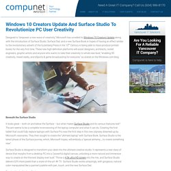 Windows 10 Creators Update and Surface Studio to Revolutionize PC User Creativity