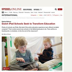 New iPad Schools in Holland Hope to Revolutionize Education