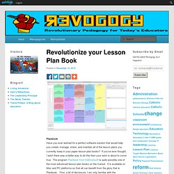 Revolutionize your Lesson Plan Book « Revogogy
