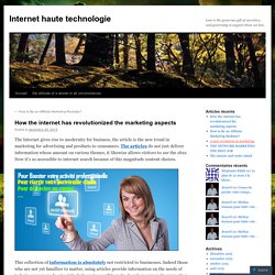 How the internet has revolutionized the marketing aspects