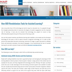 How OCR Revolutionizes Tools for Assisted Learning?