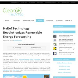 HyRef Technology Revolutionizes Renewable Energy Forecasting