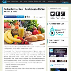 The Brazilian Food Guide – Revolutionizing The Way We Look at Food