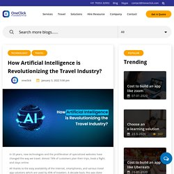 How AI is revolutionizing the Travel Industry