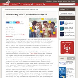Revolutionizing Teacher Professional Development