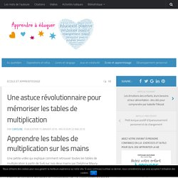 Math orthop dagogie pearltrees for Apprendre ses tables de multiplication