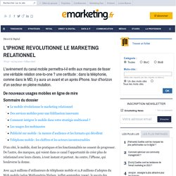 L'IPHONE REVOLUTIONNE LE MARKETING RELATIONNEL - Les fondamentaux du marketing