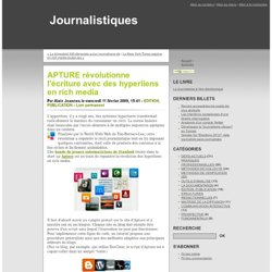 APTURE r?volutionne l'?criture avec des hyperliens en rich media