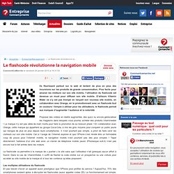Le flashcode révolutionne la navigation mobile