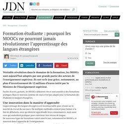 Formation étudiante : pourquoi les MOOCs ne pourront jamais révolutionner l'apprentissage des langues étrangères