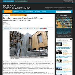"""Le bois, """"mieux que l'imprimante 3D"""" pour révolutionner la construction - 04/12/16"""