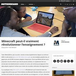 Minecraft peut-il vraiment révolutionner l'enseignement ?