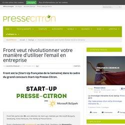 Front veut révolutionner votre manière d'utiliser l'email en entreprise