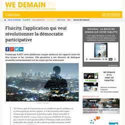 Fluicity, l'application qui veut révolutionner la démocratie participative