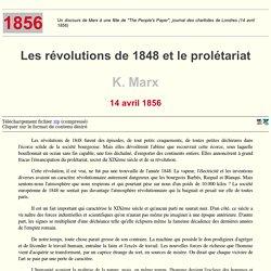 Les révolutions de 1848 et le prolétariat - K. Marx