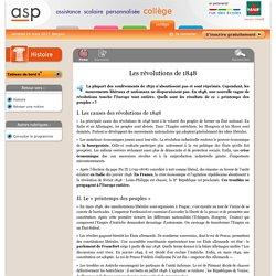 Les révolutions de 1848 - Réviser une notion - Histoire - 4e - Assistance scolaire personnalisée et gratuite - ASP