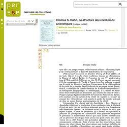 Thomas S. Kuhn, La structure des révolutions scientifiques
