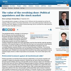 The value of the revolving door: Political appointees and the stock market