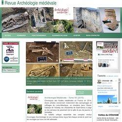 Revue Archéologie médiévale