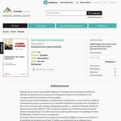 Revue Les Cahiers du numérique 2012/3