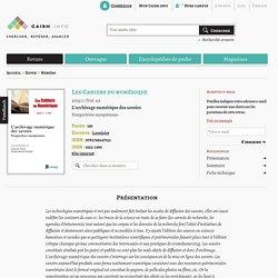 Revue Les Cahiers du numérique 2015/1