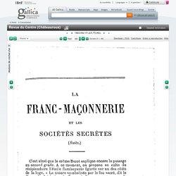 """Revue du Centre (Châteauroux) : """"La Franc-maçonnerie et les société secrètes 2/2"""""""