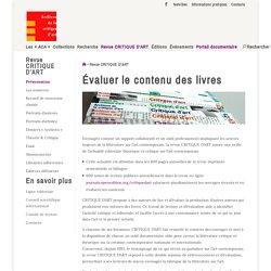 Revue CRITIQUE D'ART - Archives de la critique d'Art