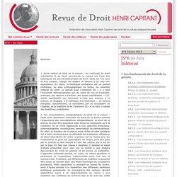 Revue de droit HENRI CAPITANT