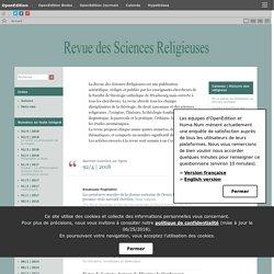 Revue des sciences religieuses