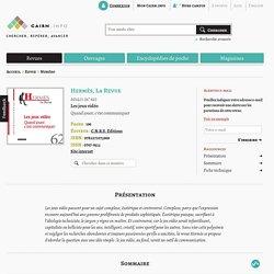 Revue Hermès, La Revue 2012/1
