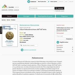 Revue Histoire de l'éducation 2014/1