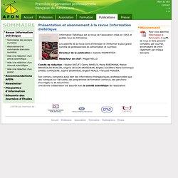 Revue Information Diététique