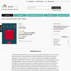 Revue Clio 2001/1, Intellectuelles