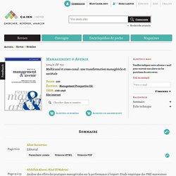 Revue Management & Avenir 2014/6