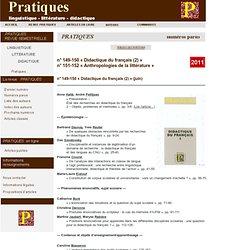 Revue Pratiques - 2011