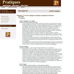 Revue Pratiques : articles en ligne