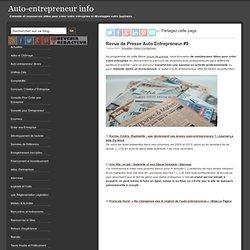 Revue de Presse Auto Entrepreneur #9