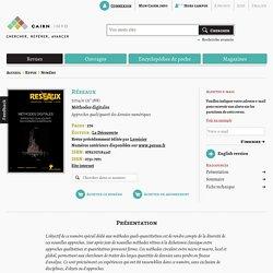 Revue Réseaux (2014/6) : Méthodes digitales