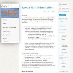 Revue RSI - Présentation