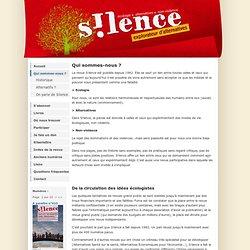 Revue S!lence- Qui sommes-nous ?