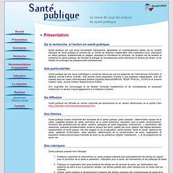 Revue Santé Publique
