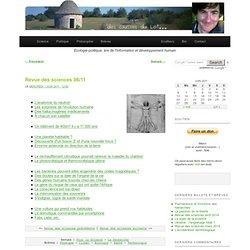 Revue des sciences 06/11